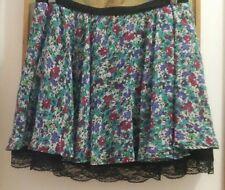 mini falda vuelo flores encaje talla 36 S rock morgan fiesta vestido pin up top