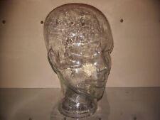 Glaskopf – Ständer – Kopfhöhrer – Hut – Perücke – transparent – Glas – Vintage