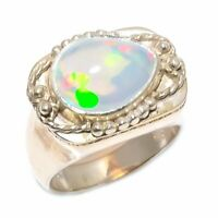 Ethiopian Opal Natural Gemstone 925 Sterling Silver Jewelry Ring Size 7 RJR-68