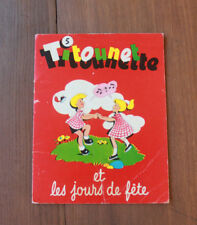 1958 Titounet Titounette 5 et les jours de fête Bourdin Livre enfant BD vintage