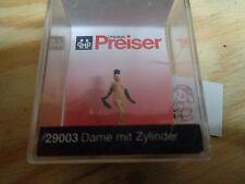 H0 Preiser 29003 mujer con cilindros figura. emb.orig