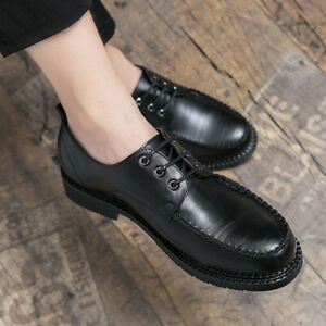 Mens Oxfords Lace up Flats Sports Walking Casual Low Top Business Leisure Shoes