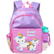 Personalised UNICORN School Bag Girls Backpack Childrens Kids Pink Cute EC007