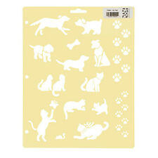 Darice Painting Stencils - My Pets - 8.5 x 11 inches - Cat Dog Paw Bone Mouse
