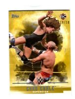 WWE Chad Gable #9 2017 Topps Undisputed Gold Parallel Card SN 10 of 10