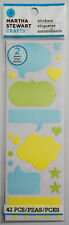 """Bubble Stickers 42 Pieces 2 Sheets  2-1/2 x 8""""  Martha Stewart Free Shipping"""