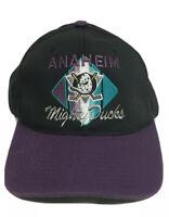 Vintage 90s Anaheim Mighty Ducks NHL Hockey CCM Snapback Hat Cap