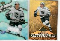 19/20 LOT OF 2 BLAKE LIZOTTE RC'S UD FLORESCENCE & ICE PREMIERES JERSEY