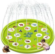 Sprinkler & Splash Pad for Kids, 68'' Large Inflatable Outdoor Splash Play Mat