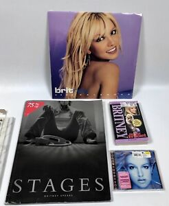 Lot Britney Spears Stages Book W CD 2003 Calendar In The Zone CD & Book