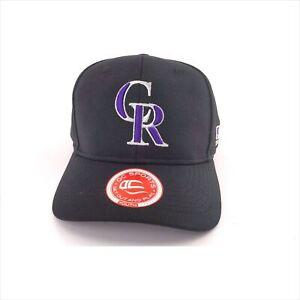 Colorado Rockies Baseball Hat Cap Lead Black Hook & Loop Youth