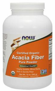 Now Foods - Acacia Fiber Organic Powder, 340g (12 oz)