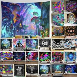 Hippie Trippy Tapestry Psychedelic Wall Hanging Blanket Home Decoration Bedroom