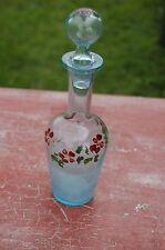 Karaffe aus Glas emailliert blau -blüten _ ch