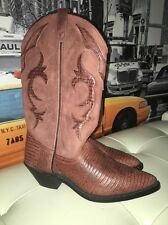 6 M vintage 80's Acme Dingo Brown Lizard Leather cowboy boots New�