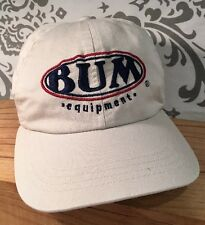 Vintage BUM Equipment Baseball Cap Hat Adjustable Beige Snapback #388