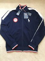 NWT Men's/Unisex Polo Ralph Lauren U.S. Olympic Team Blue Track Jacket Sz Large