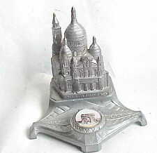Antique Paris France Dip Pen Inkwell Le Sacre Coeur & Arc De Triomphe
