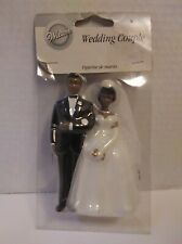 African American Wedding Wilton Cake Topper 2005 4.5 Inches Tall Black