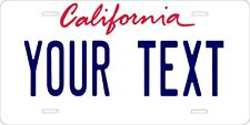 California 1986 Tag License Plate Personalized Auto Car Custom VEHICLE OR MOPED