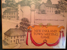 New England Town Meeting Board Game 1979 by Elizabeth Banks MacRury, New Sealed!