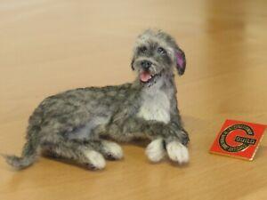 OOAK Dollhouse Miniature 1:12  Dog cat  Realistic Handmade IGMA Artisan JParrott