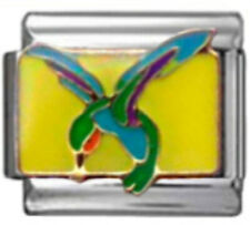 HUMMINGBIRD BIRD Enamel Italian 9mm Charm BI242 Fits Nomination Classic