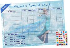 Personalised Good Behaviour Reward Chart Childrens Kids Reusable Routine FRZ