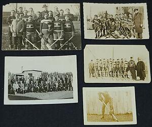 1920-1940 - QUEBEC HOCKEY PHOTOS (5) - ORIGINAL