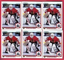 ED BELFOUR 1990-91 UPPER DECK (6)-CARD ROOKIE LOT CHICAGO BLACKHAWKS #55