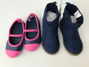 NEW Old Navy Boots & Gymboree Dress flats Mary Jane Blue Suede Size 5