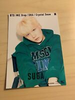 BTS Bangtan SUGA Mic drop Crystal Snow DNA FC Limited Official Photo
