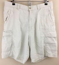 TOMMY BAHAMA Men's Cotton-Tencel Khaki Cargo Shorts Size 34