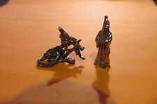 Finely Detailed Pewter Wizard With Dragon