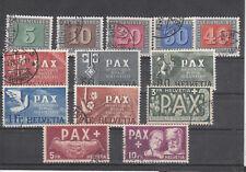 Schweiz Nr. 447-459, PAX, gestempelt