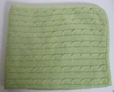 Tadpoles Cotton Baby Blanket Spring Green Cable Knit Lovey