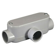 Cantex 5133568 Conduit Outlet Body, Pvc, T, Back Type: Flat