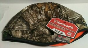Huntworth Victor Hunting Beanie Hat Reversible Camo/Blaze Orange Real-tree Edge