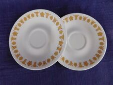 PAIR of Corelle Butterfly Gold SAUCERs SET of TWO (2) have more items to set