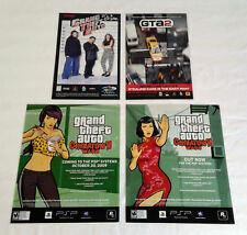 four GRAND THEFT AUTO video game ads