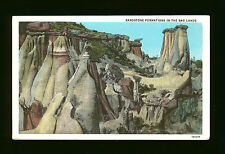Sandstone Formations in the Bad Lands-Regent, ND-Mailed to Stony Ridge, OH- 1933