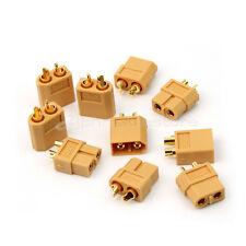 5 Coppia XT60 Connettori per Batteria Auto Maschio Femmina Motore Giallo ap7e