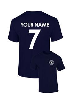 Personalised Scotland Football Cotton T-Shirt Name Number Birthday Custom Euros