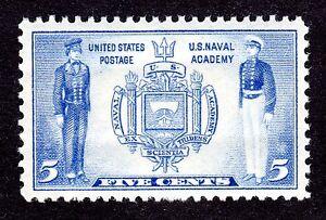US # 794 (1936) - 5c - Grade: XF - U.S. Naval Academy, MNH