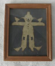 antique scarecrow paper doll framed