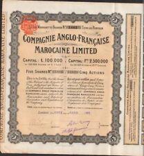 Compagnie ANGLO-FRANÇAISE- MAROCAINE LTD (ROYAUME-UNI FRANCE MAROC) (T)