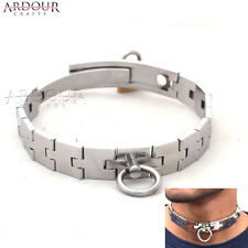 Stainless Steel Chain Neck Collar Adjustable Size Restraint Lock-Able