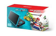 NEW Nintendo 2DS XL Black/Turquoise Gaming System with Mario Kart 7 Preinstalled