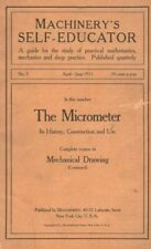 Machinery's Self Educator Study Guide The Micrometer & Mechanical Drawing 1911