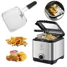 Deep Fat Fryer 1.5 Litre Chip Pan Basket Non Stick Oil Fry 900W Compact